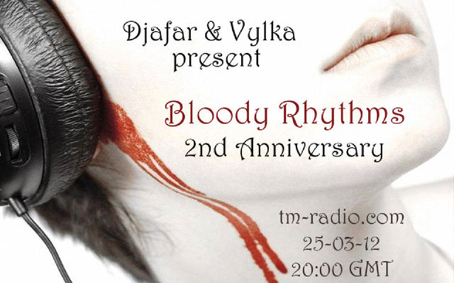 Bloody Rhythms :: 2 year anniversary special!!!!!! (aired on March 25th, 2012) banner logo