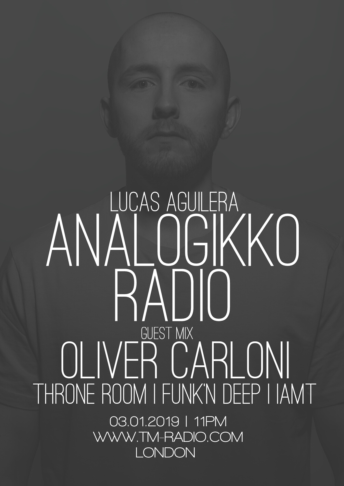 Analogikko Radio :: ANALOGIKKO RADIO BY LUCAS AGUILERA - OLIVER CARLONI - GUEST MIX - TM RADIO - Episode 051 (aired on March 1st, 2019) banner logo