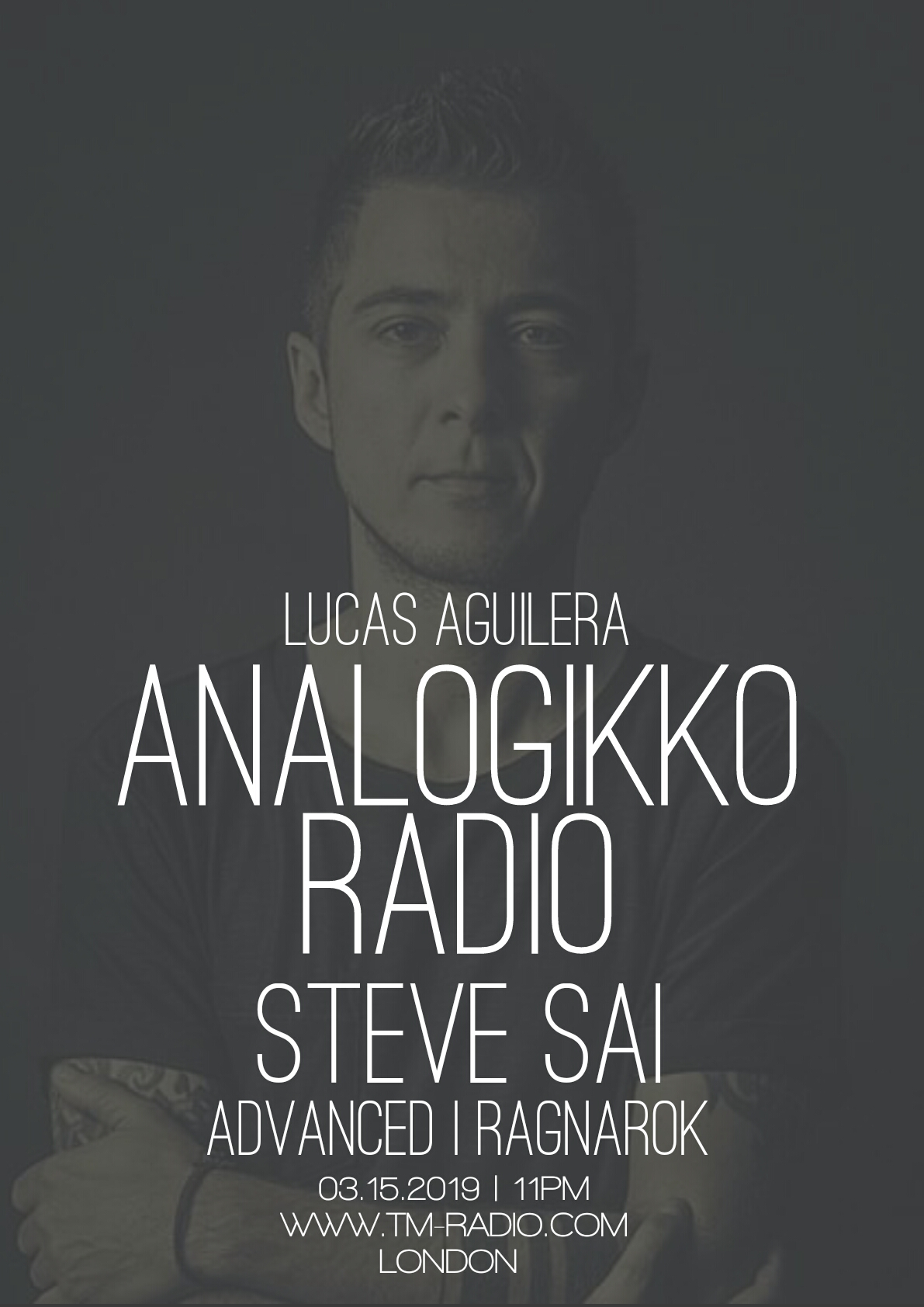 ANALOGIKKO RADIO BY LUCAS AGUILERA - STEVE SAI - GUEST MIX - TM RADIO - Episode 053 (from March 15th, 2019)
