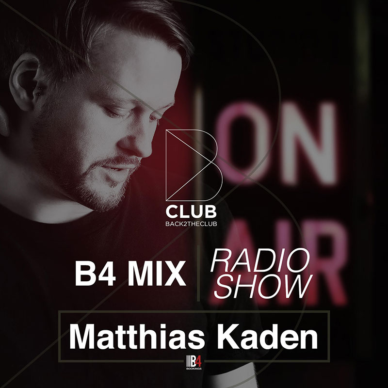 Back2TheClub :: Episode 011, hosted by Mathias Kaden (aired on August 6th, 2018) banner logo
