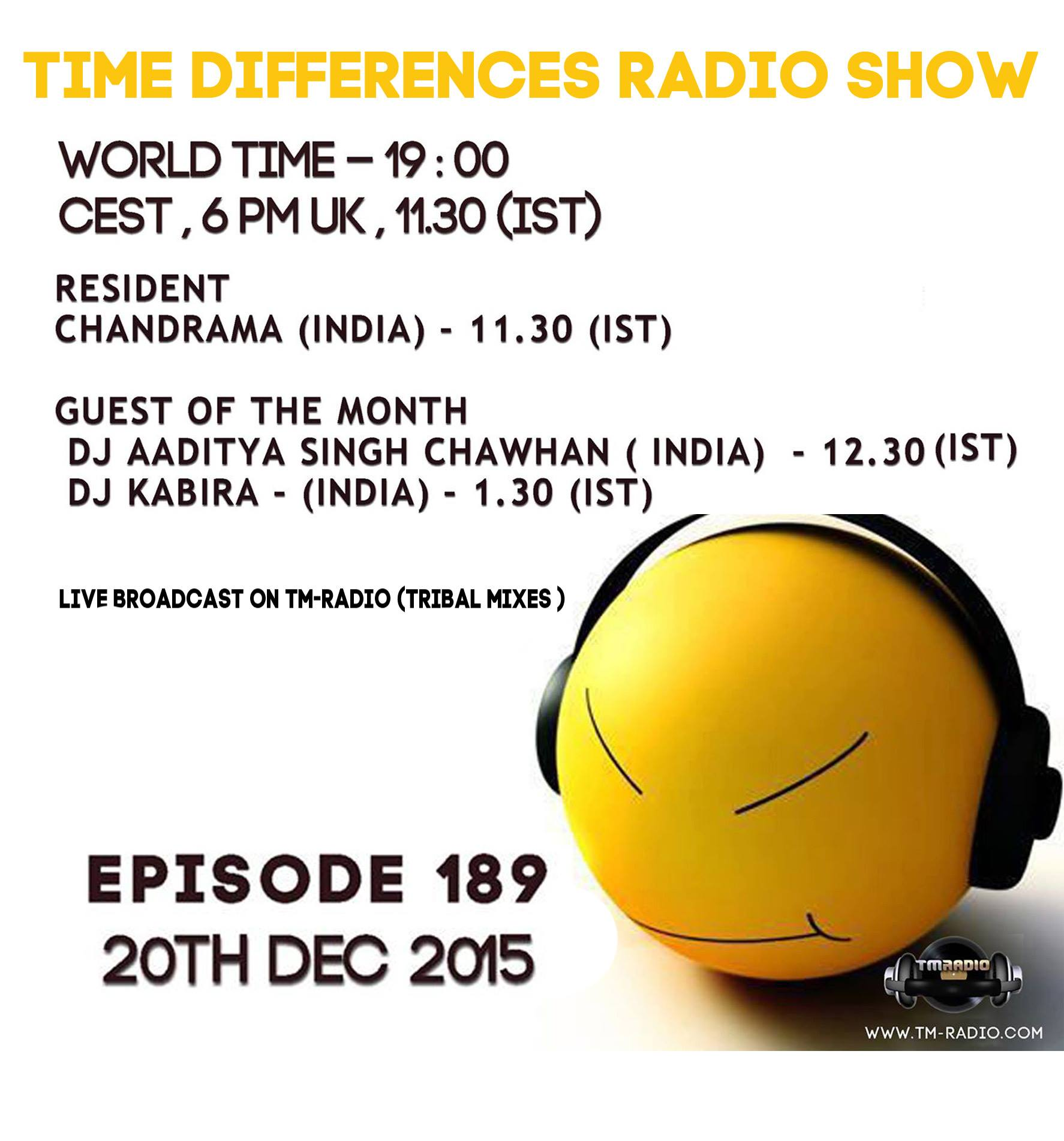 Episode 189, hosted by Chandrama (from December 20th, 2015)