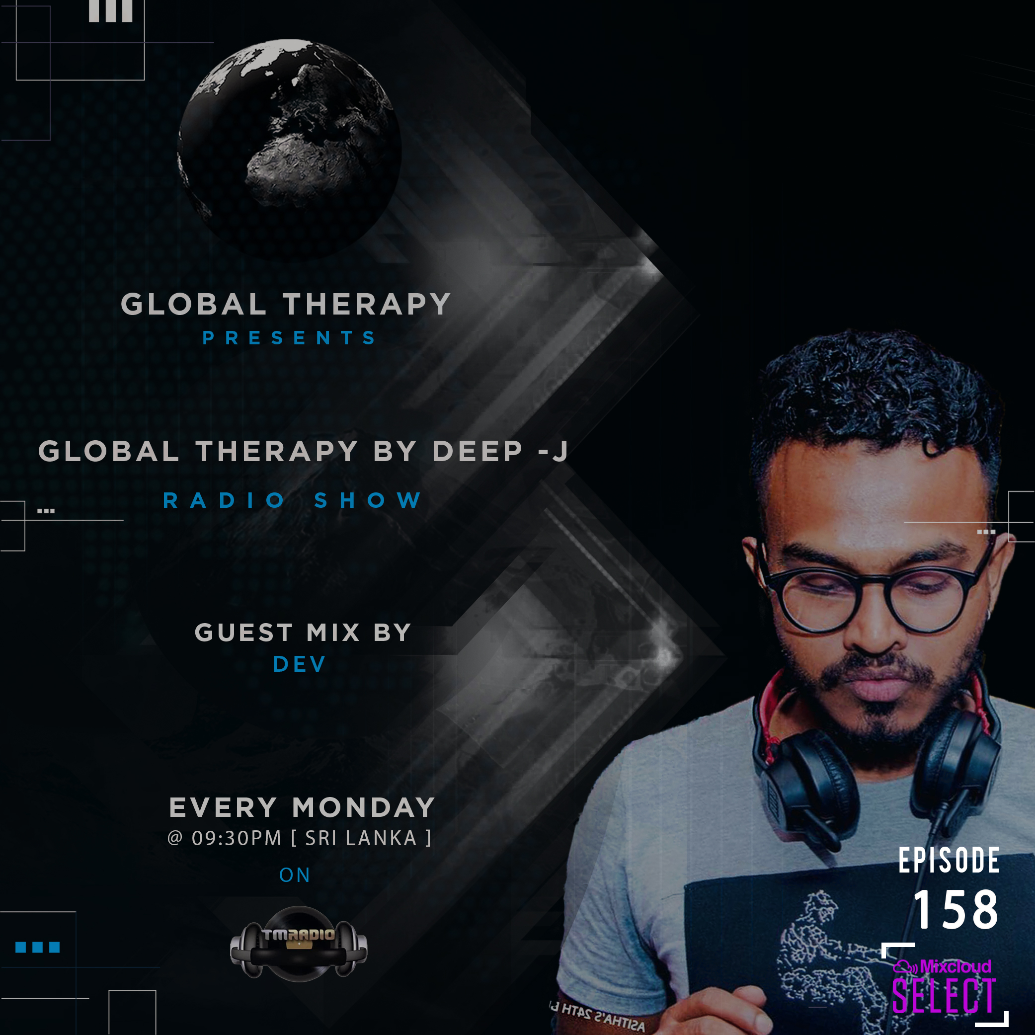 Global Therapy :: Global Therapy Episode 158 + Guest Mix by DEV (aired on October 14th, 2019) banner logo