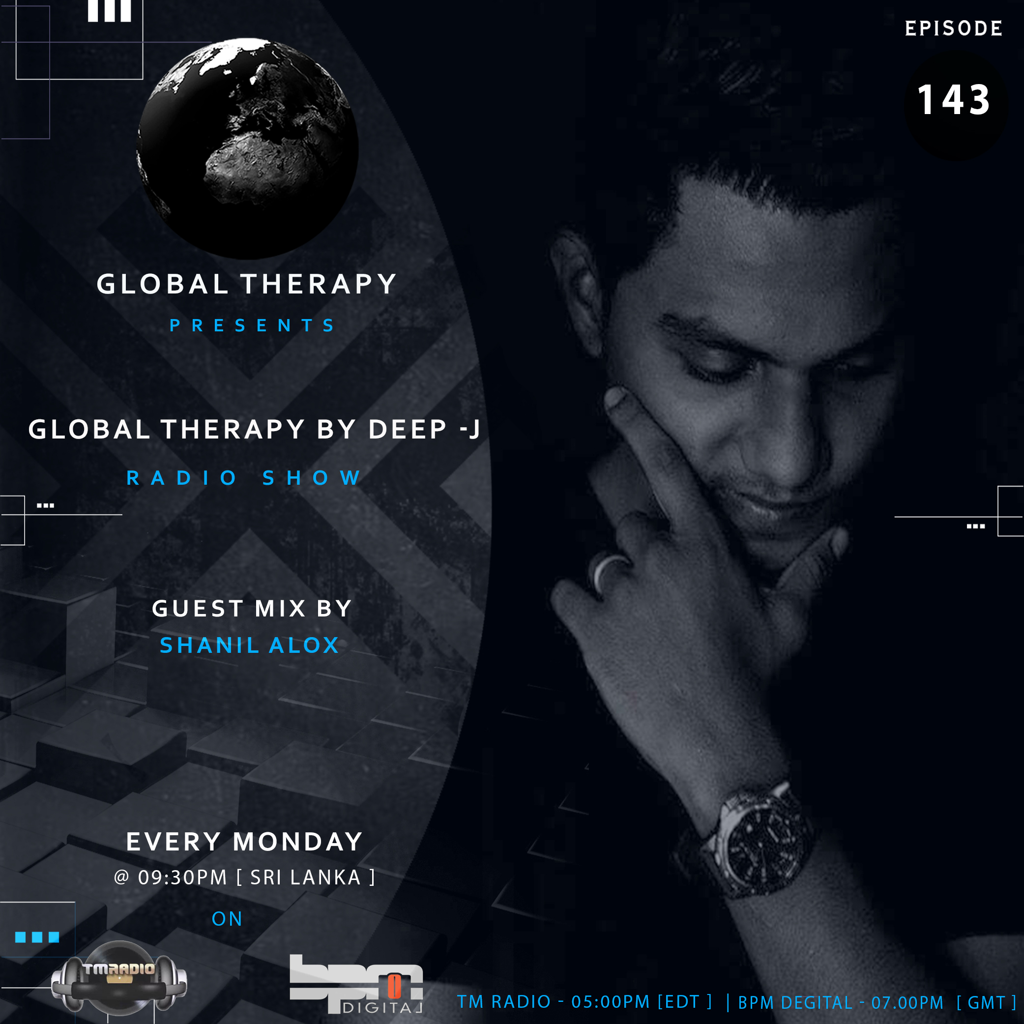 Global Therapy :: Global Therapy + Guest Mix Shanil Alox [ EP:143 ] (aired on July 1st, 2019) banner logo
