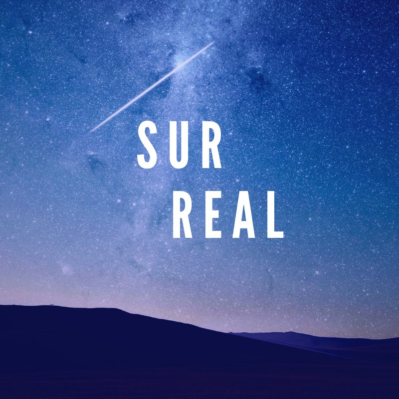 Surreal banner logo