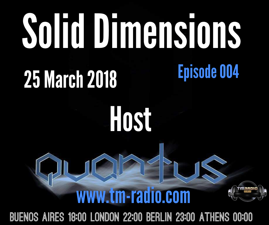 Solid Dimensions :: Episode 004 (aired on March 25th, 2018) banner logo