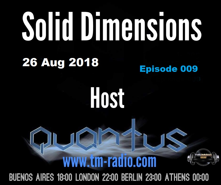 Solid Dimensions :: Episode 009 (aired on August 26th, 2018) banner logo