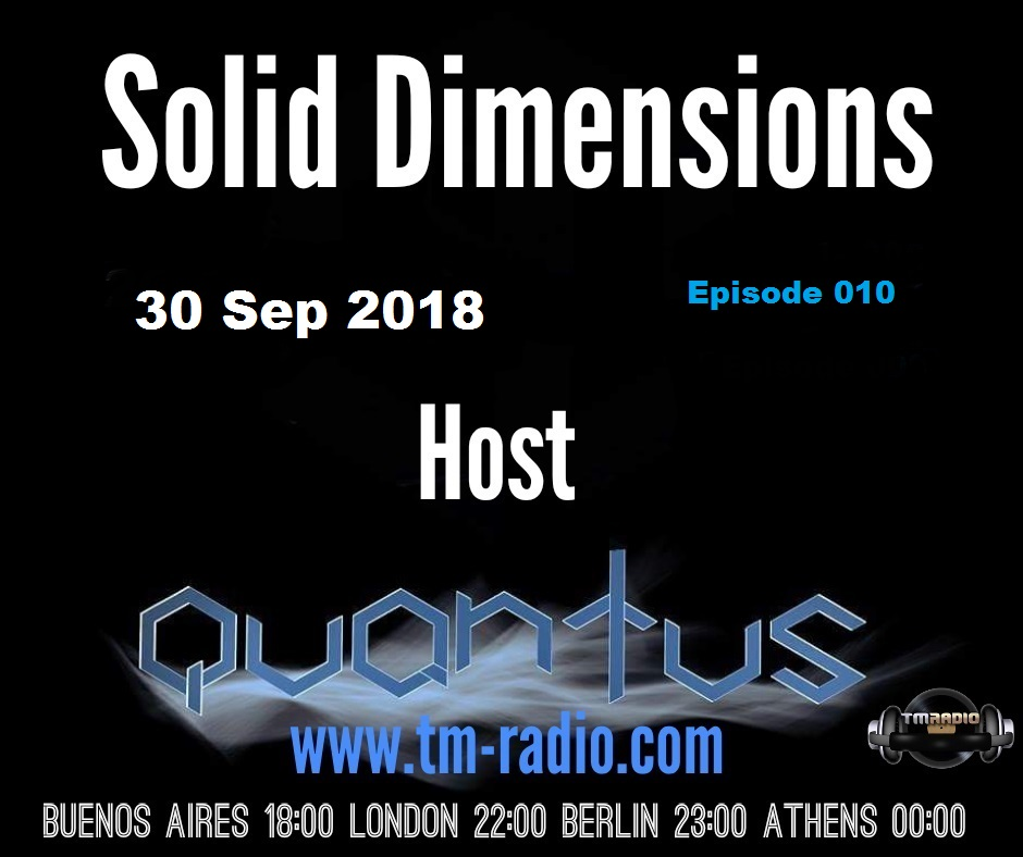 Solid Dimensions :: Solid Dimensions 010 on TM Radio - 30-Sep-2018 (aired on September 30th, 2018) banner logo