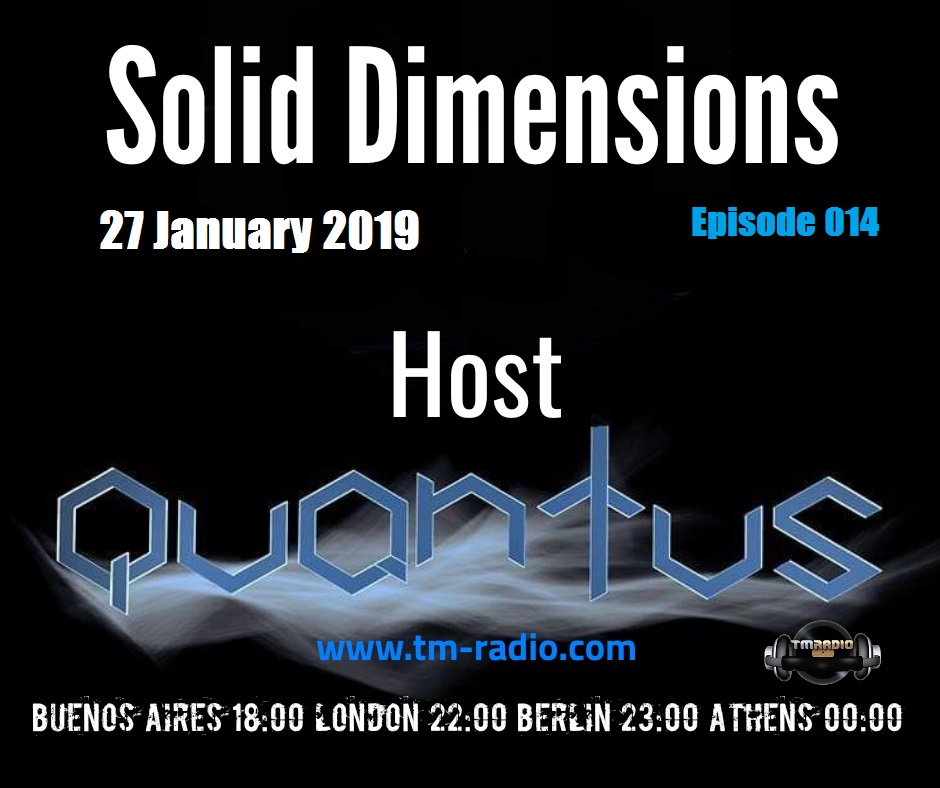 Solid Dimensions :: Solid Dimensions 014 on TM Radio - 27-Jan-2019 (aired on January 27th) banner logo
