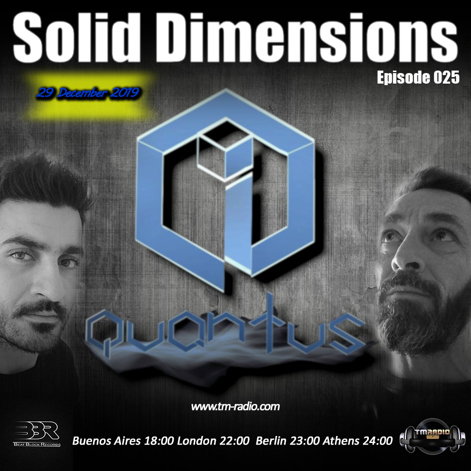 Solid Dimensions :: Solid Dimensions 025 on TM Radio - 29-Dec-2019 (aired on December 29th, 2019) banner logo