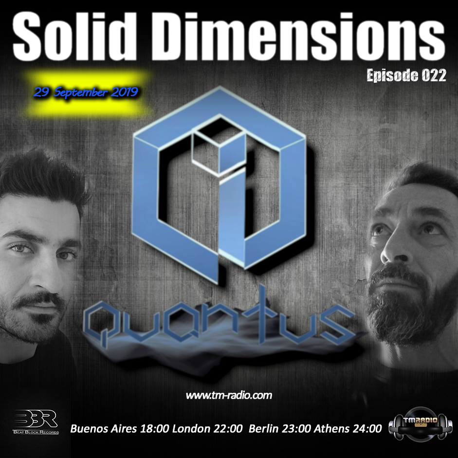 Solid Dimensions :: Solid Dimensions 022 on TM Radio - 29-Sep-2019 (aired on September 29th, 2019) banner logo