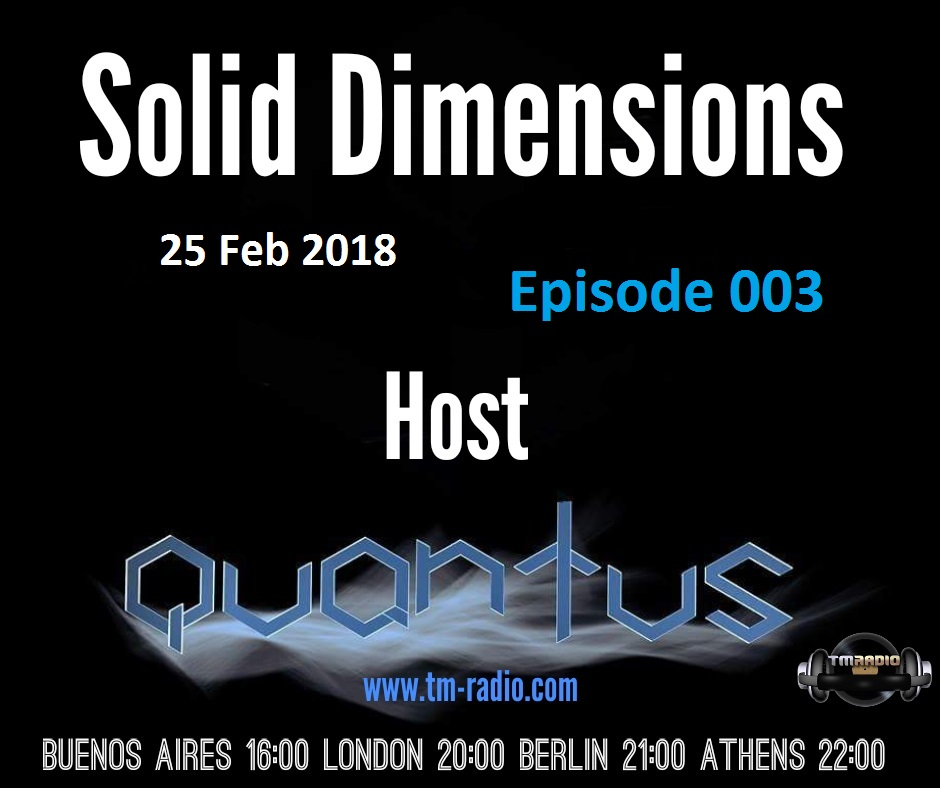 Solid Dimensions :: Episode 003 (aired on February 25th, 2018) banner logo