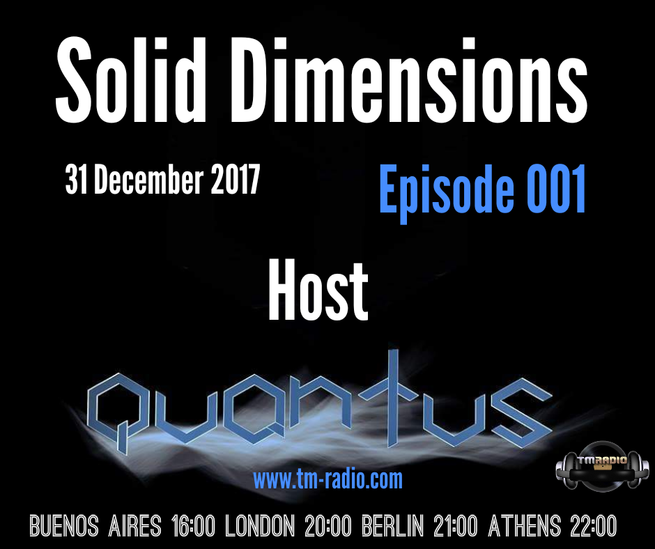 Solid Dimensions :: Episode 001, Grand Opening (aired on December 31st, 2017) banner logo