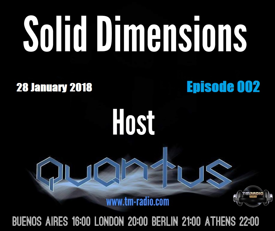 Solid Dimensions :: Episode 002 (aired on January 28th, 2018) banner logo