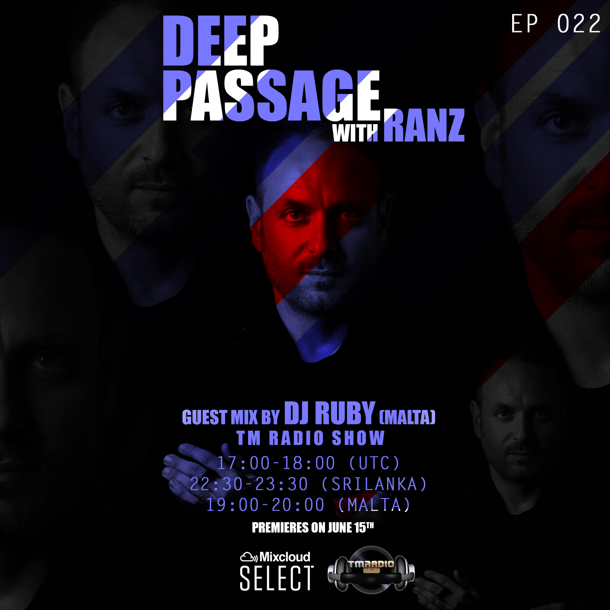 DEEP PASSAGE :: 2nd hour Guest mix by DJ Ruby (Malta) (aired on June 15th, 2020) banner logo