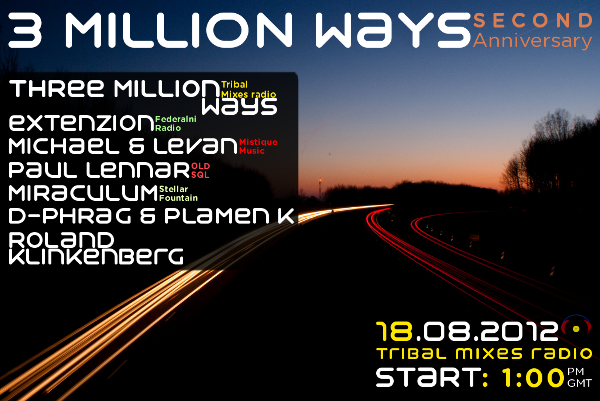 3 Million Ways :: 2 Year Anniversary (aired on August 18th, 2012) banner logo
