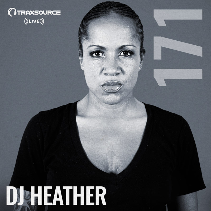 Traxsource Live :: Episode 171, hosted by DJ Heather (aired on May 13th, 2018) banner logo