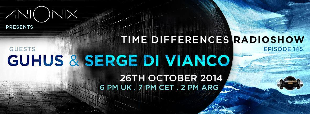 Time Differences :: Episode 145, hosted by Ani Onix (aired on October 26th, 2014) banner logo