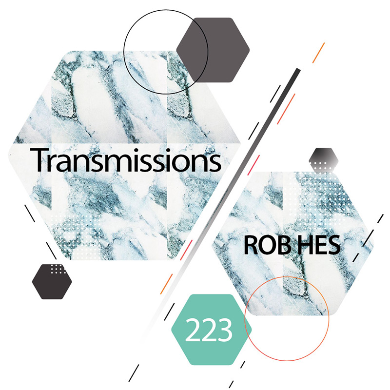Transmissions :: Episode 223, guest mix Rob Hes (aired on March 27th, 2018) banner logo