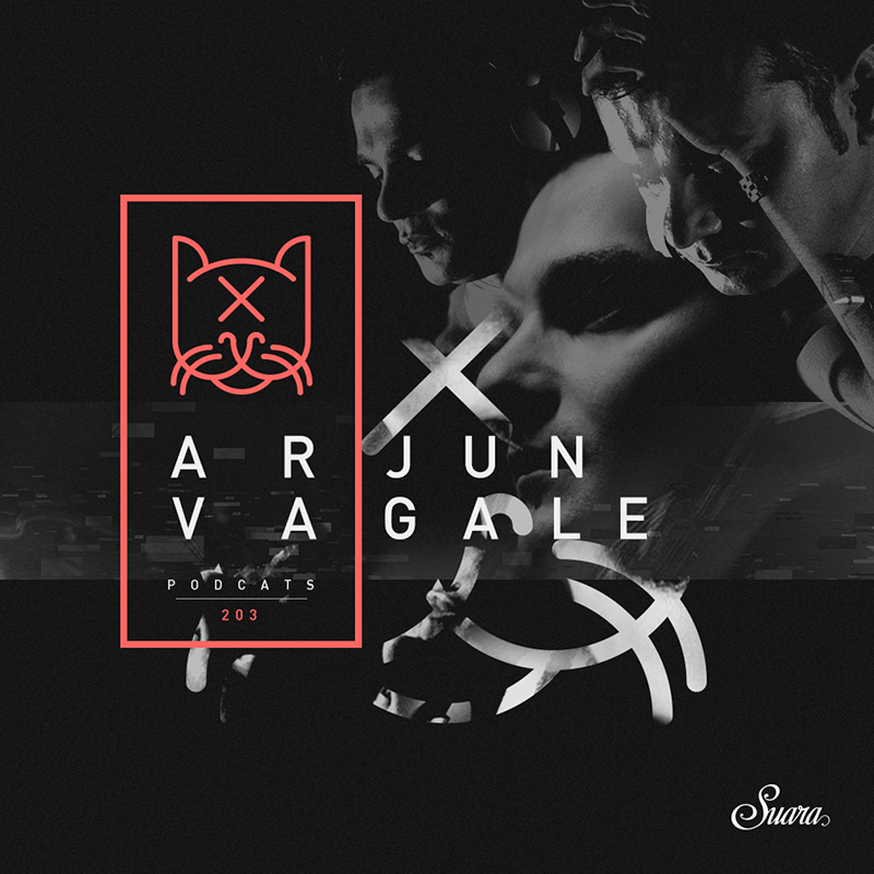 Suara PodCats :: Episode 203, guest Arjun Vagale (aired on January 11th, 2018) banner logo