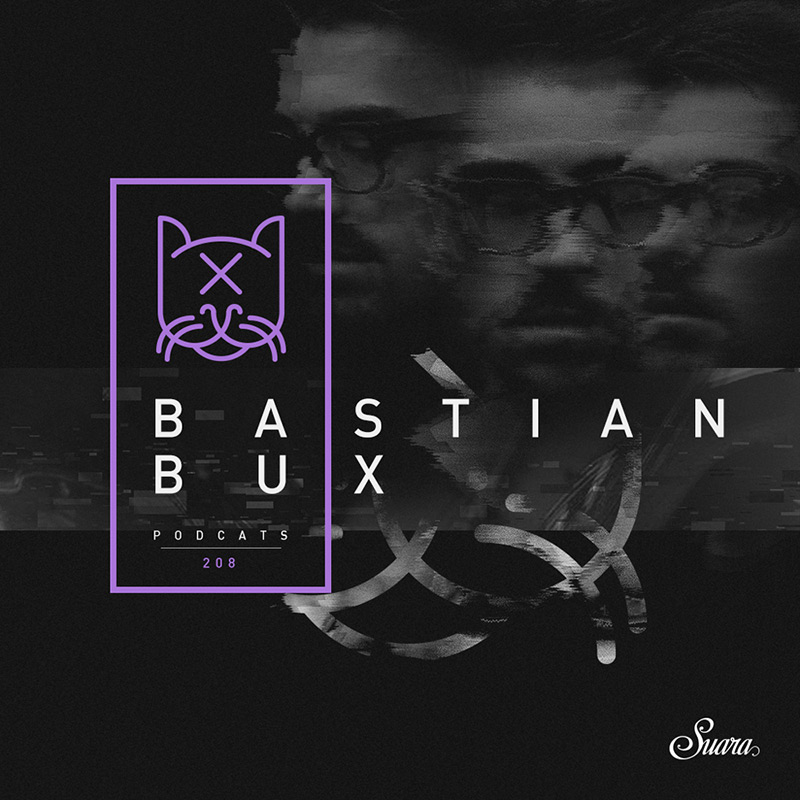 Suara PodCats :: Episode 208, guest mix Bastian Bux (live from Indian tour) (aired on February 15th, 2018) banner logo