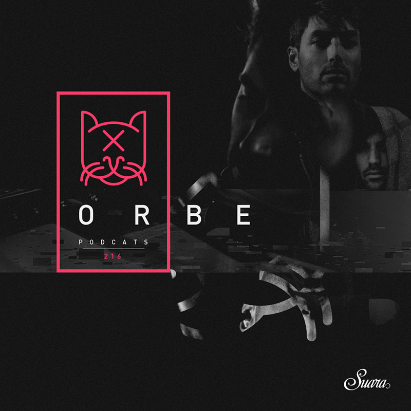 Suara PodCats :: Episode 216, guest mix Orbe (aired on April 12th, 2018) banner logo
