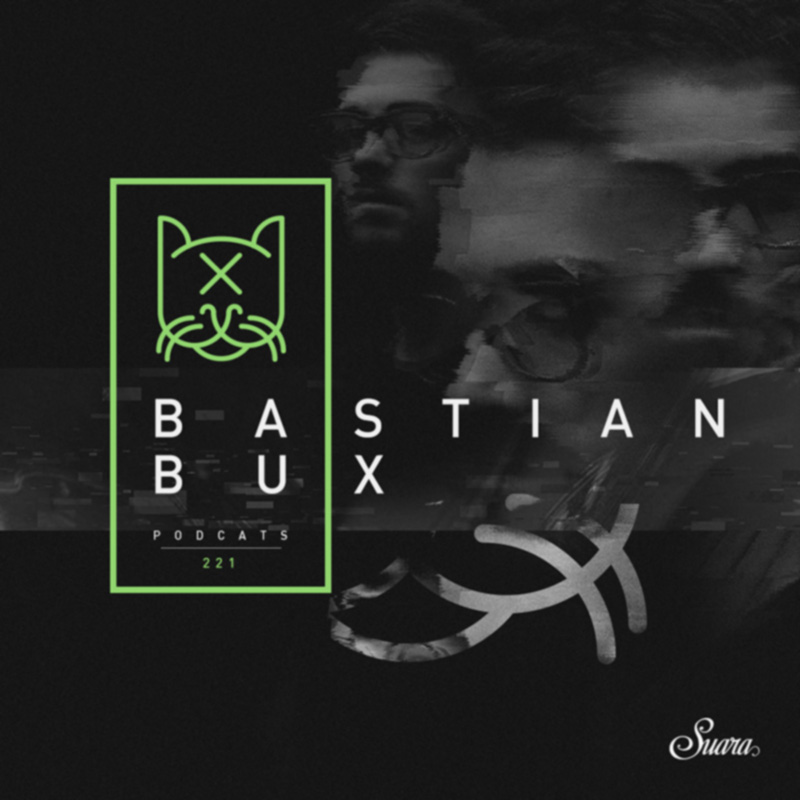 Suara PodCats :: Episode 221, guest mix Bastian Bux (aired on May 17th, 2018) banner logo