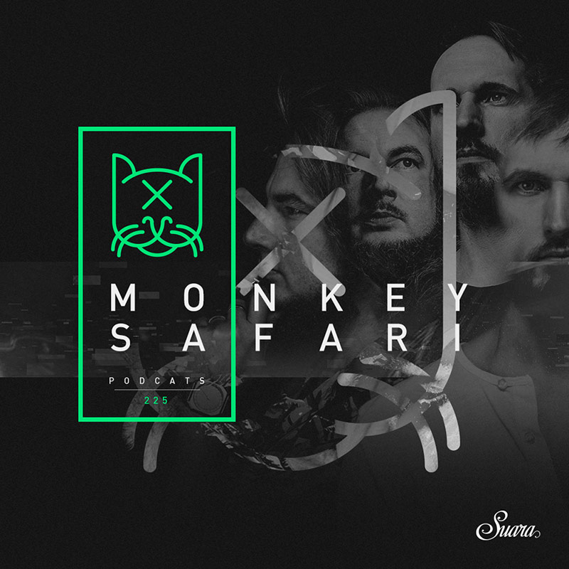 Suara PodCats :: Episode 225, guest mix Monkey Safari (aired on June 14th, 2018) banner logo