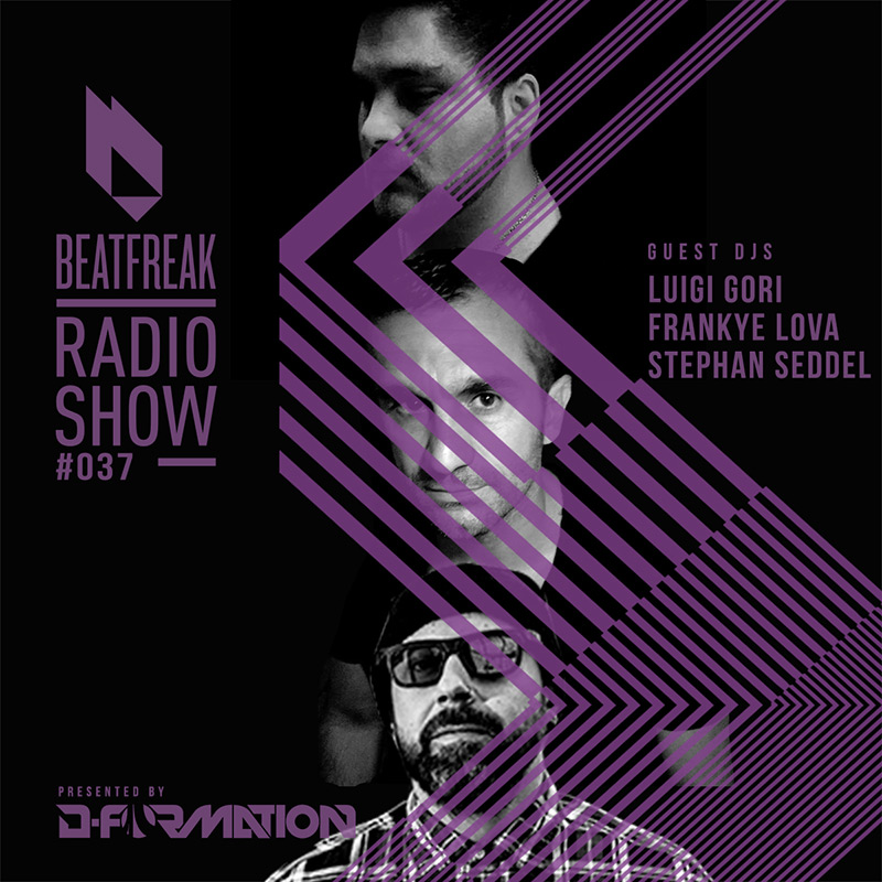 Beatfreak Radio Show :: Episode 037, with Luigi Gori, Frankye Lova and Stephan Seddel (Italy) (aired on January 27th, 2018) banner logo