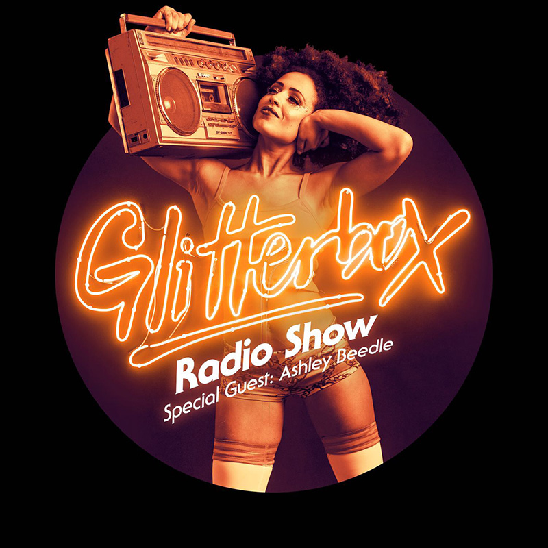 Glitterbox :: Episode 040, hosted by Ashley Beedle (aired on January 3rd, 2018) banner logo