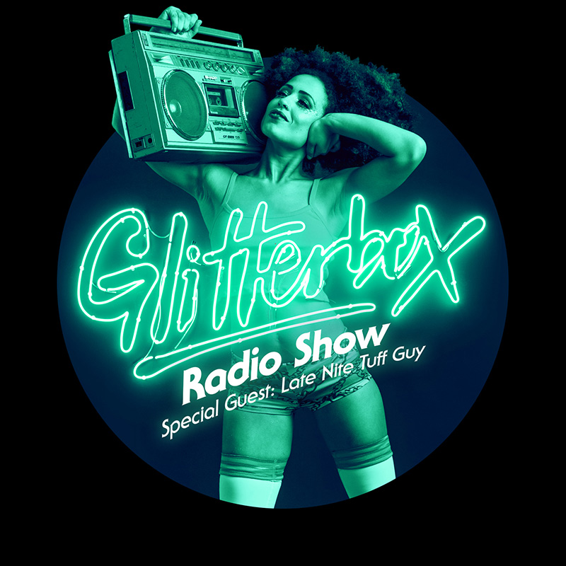 Glitterbox :: Episode 033, hosted by Late Nite Tuff Guy (aired on November 15th, 2017) banner logo