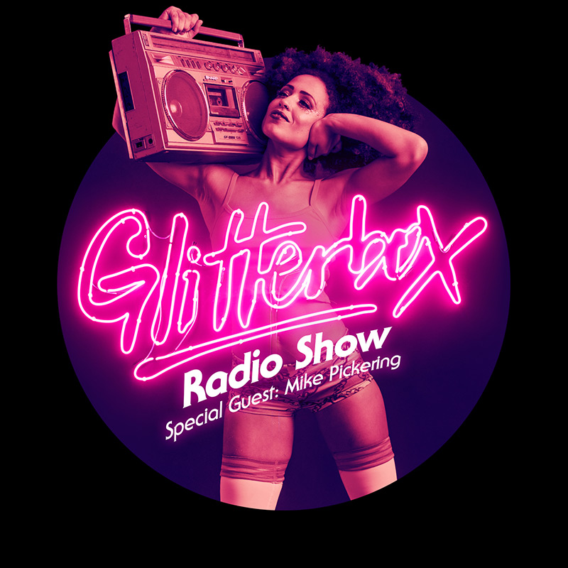 Glitterbox :: Episode 042, hosted by Mike Pickering (aired on January 17th, 2018) banner logo