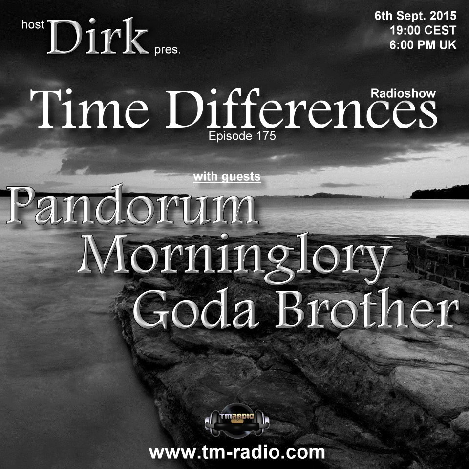 Time Differences :: Episode 175, hosted by Dirk (aired on September 6th, 2015) banner logo