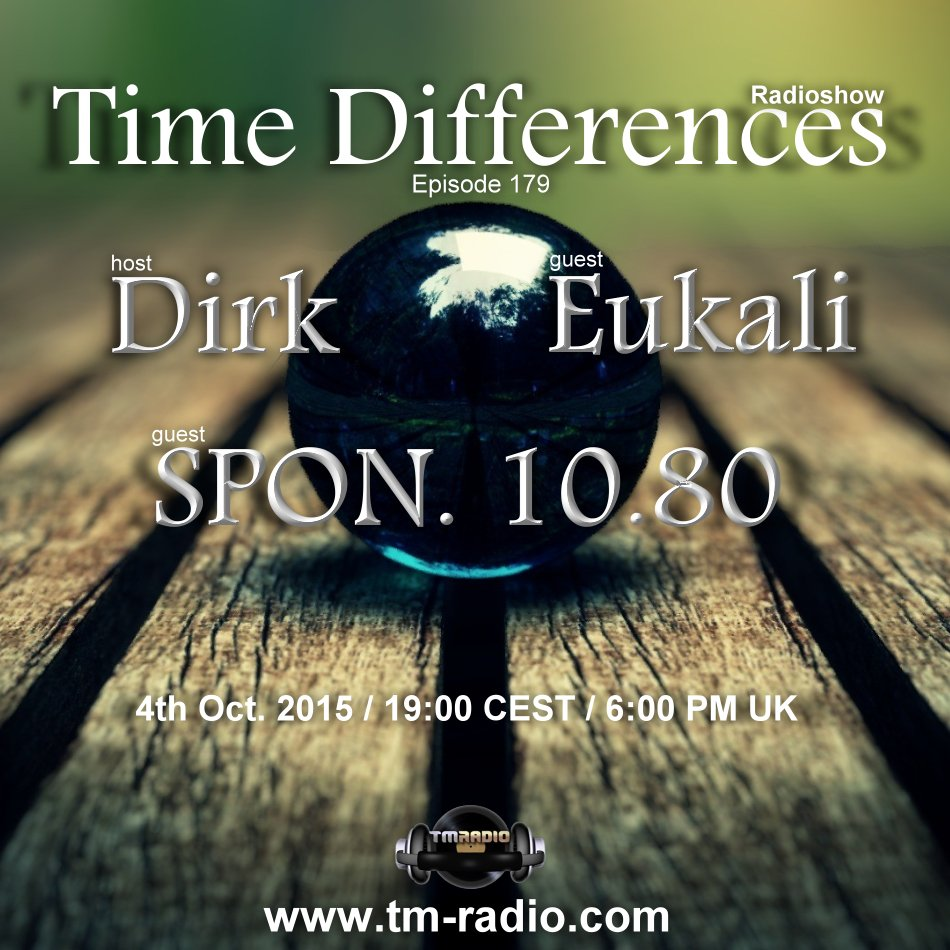 Time Differences :: Episode 179, hosted by Dirk (aired on October 4th, 2015) banner logo
