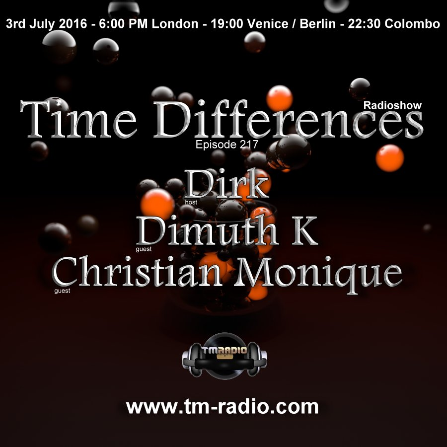 Time Differences :: Episode 217,hosted by Dirk (aired on July 3rd, 2016) banner logo