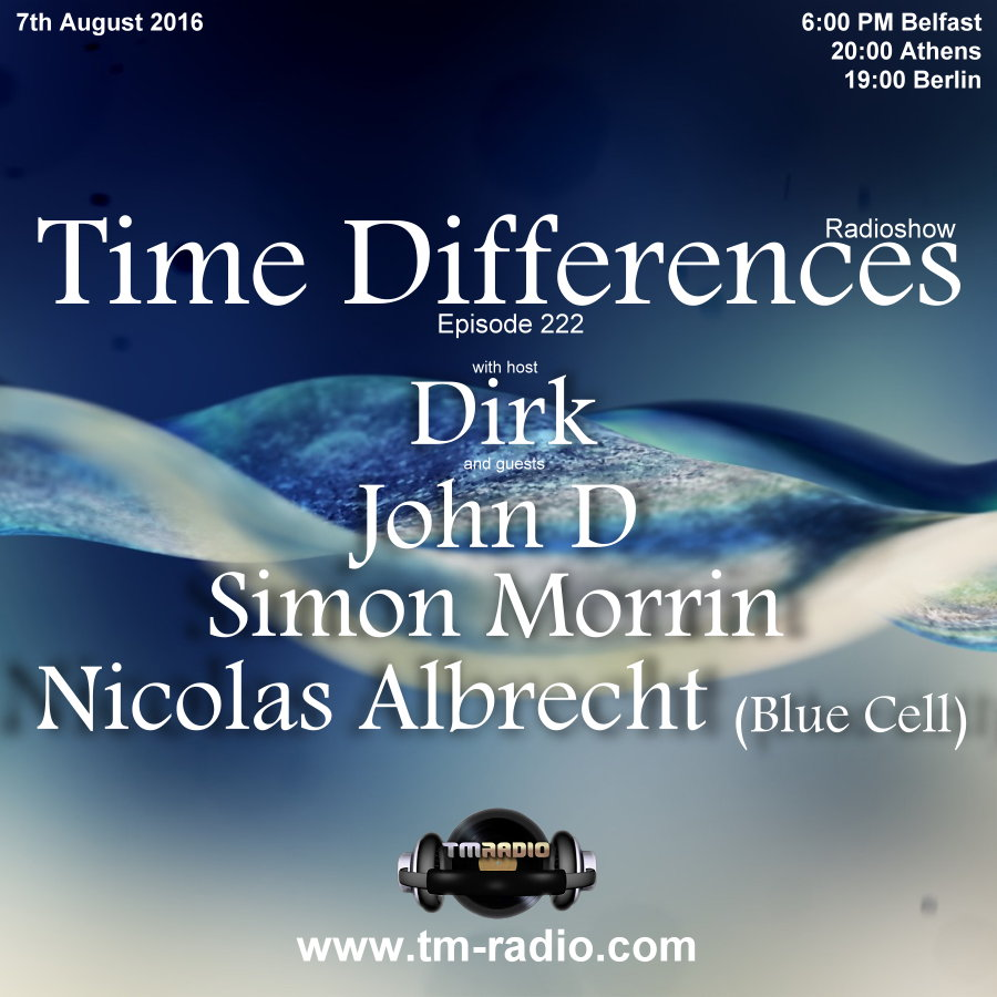 Time Differences :: Episode 222, hosted by Dirk (aired on August 7th, 2016) banner logo