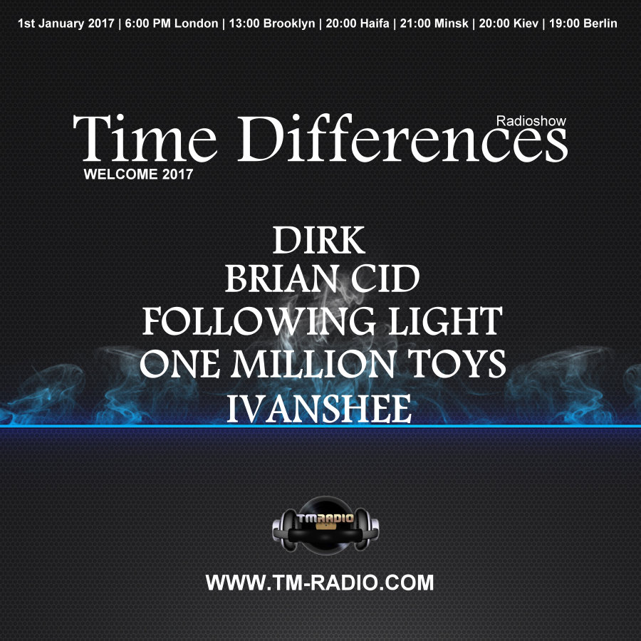 Time Differences :: Episode 243, hosted by Dirk and Following Light (aired on January 1st, 2017) banner logo