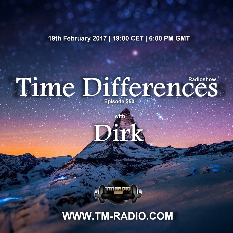 Time Differences :: Episode 250, hosted by Dirk (aired on February 19th, 2017) banner logo