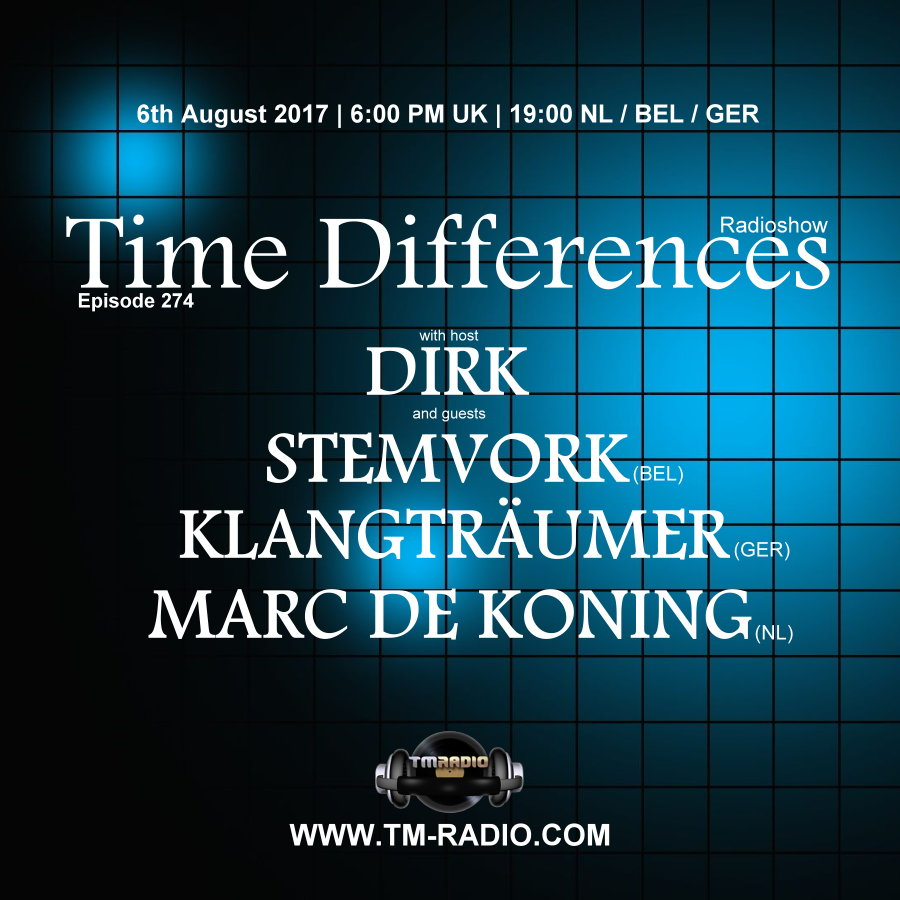Time Differences :: Episode 274, hosted by Dirk (aired on August 6th, 2017) banner logo