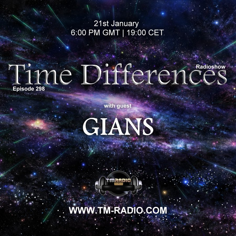 Time Differences :: Episode 298, with guest Gians (aired on January 21st, 2018) banner logo
