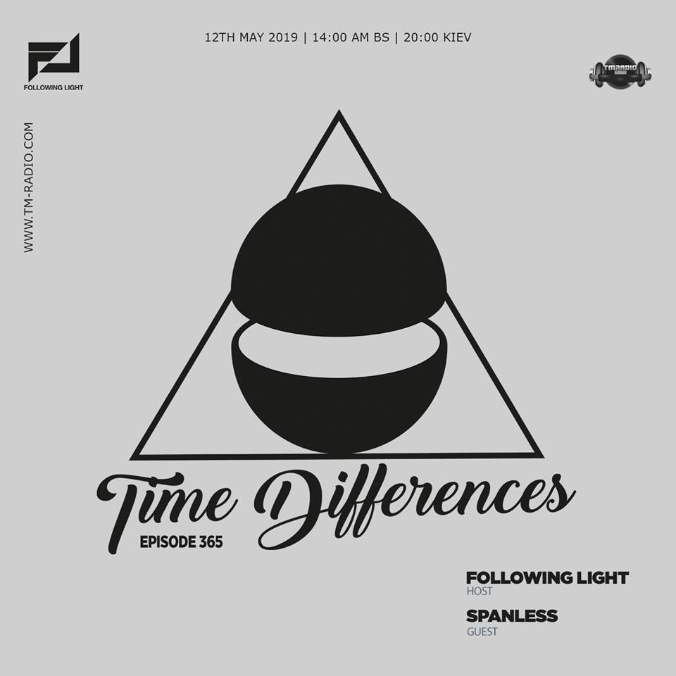 Time Differences :: Episode 365, with host Following Light and guest Spanless (aired on May 12th) banner logo