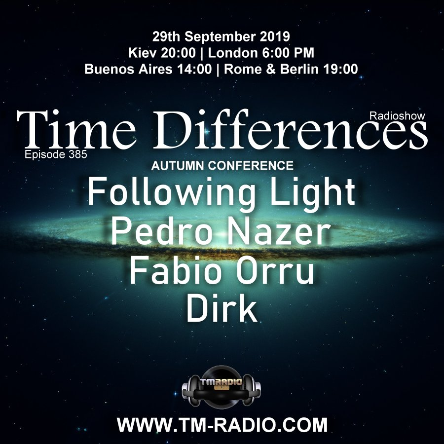 Time Differences :: Episode 385, Autumn Conference (aired on September 29th, 2019) banner logo