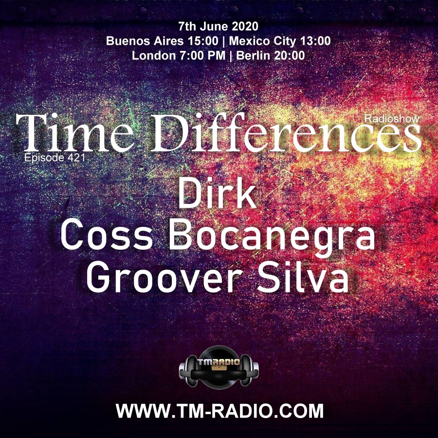 Time Differences :: Episode 421, with guests Coss Bocanegra, Groover Silva & host Dirk (aired on June 7th) banner logo