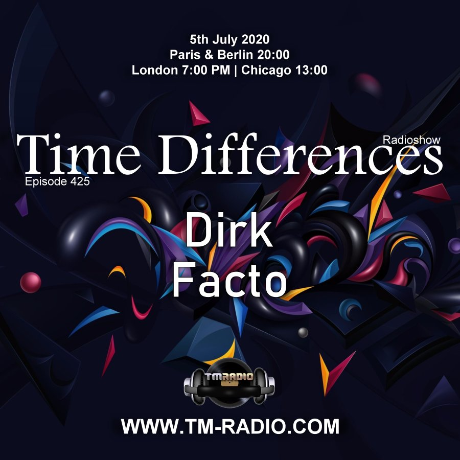 Time Differences :: Episode 425, with guest Facto and host Dirk (aired on July 5th, 2020) banner logo