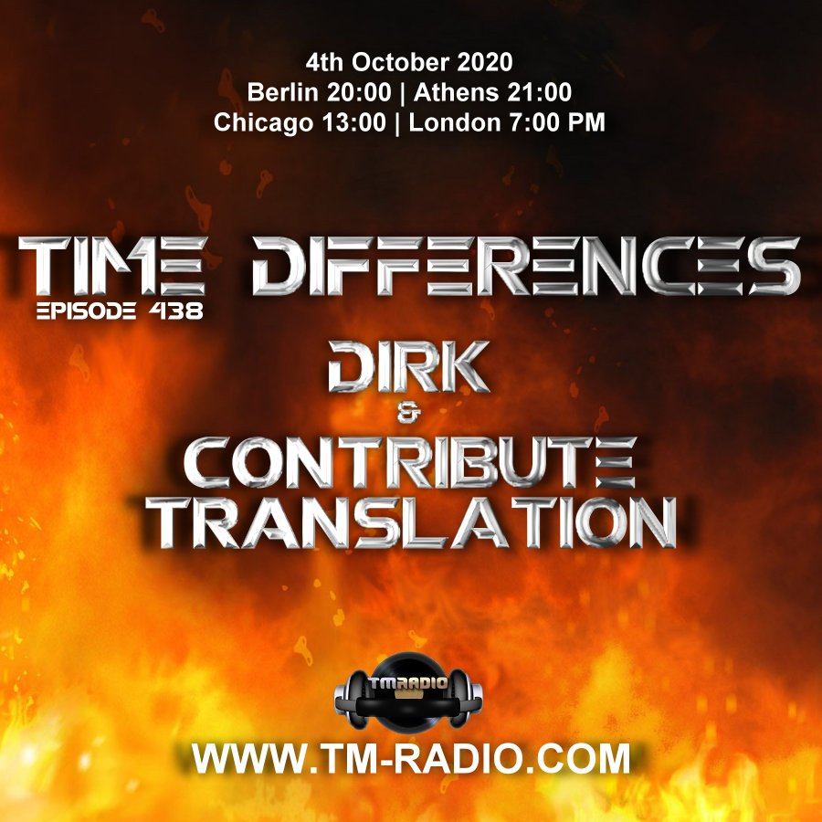 Time Differences :: Episode 438, with guest Contribute Translation & host Dirk (aired on October 4th, 2020) banner logo
