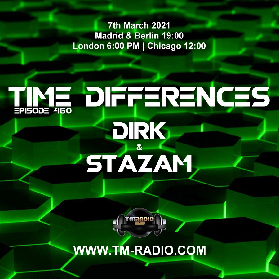 Time Differences :: Episode 460, with guest Stazam and host Dirk (aired on March 7th) banner logo