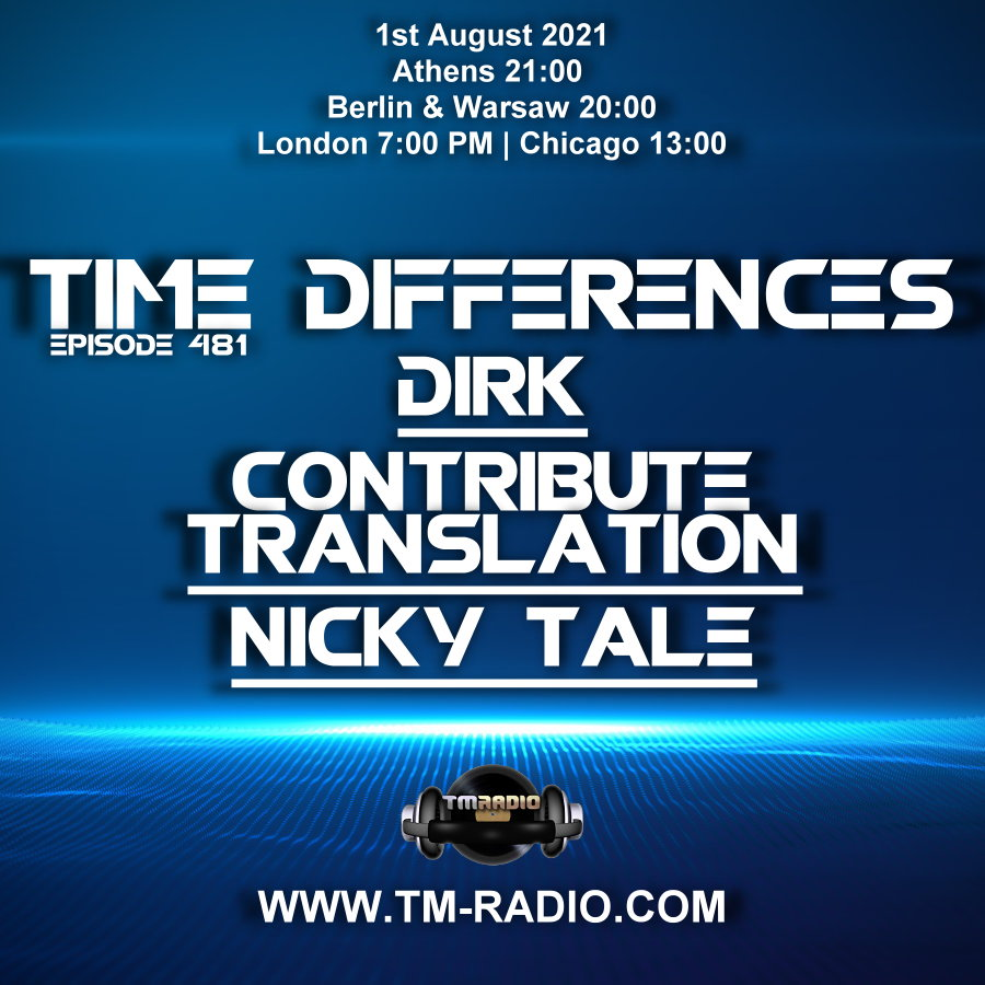 Time Differences :: Episode 481, with Contribute Translation, Nicky Tale & Dirk (aired on August 1st) banner logo