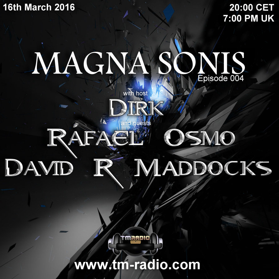 Magna Sonis :: Episode 004, hosted by Dirk (aired on March 16th, 2016) banner logo