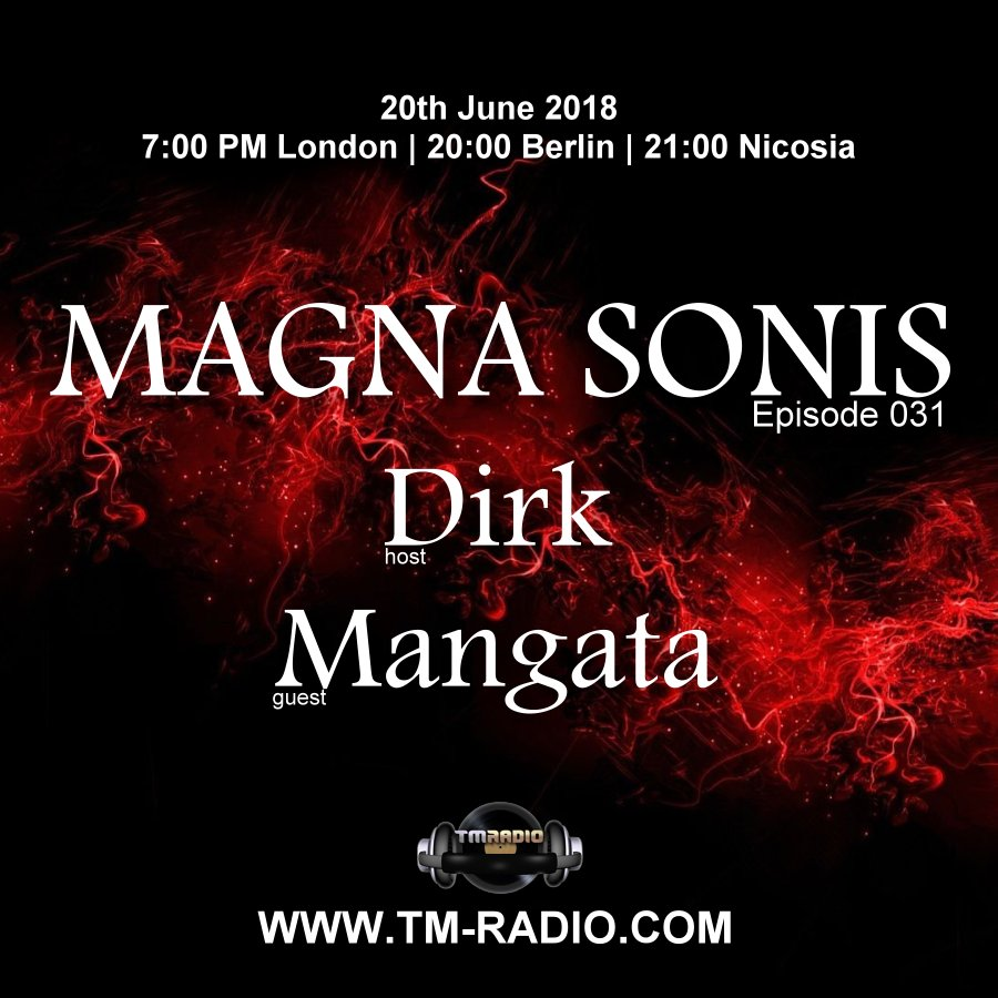 Magna Sonis :: Episode 031, with guest Mangata and host Dirk (aired on June 20th, 2018) banner logo