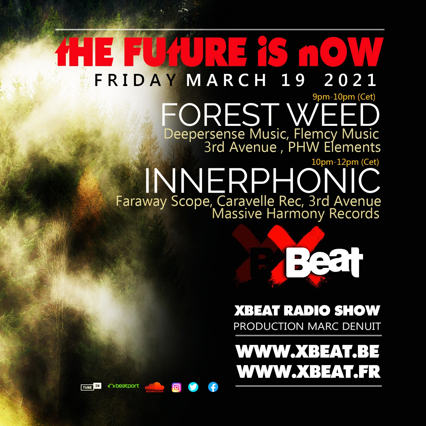 HYPNOTIC Show :: Forest Weed - Special Connection for XBEAT.org 'the future is now' March 2021 (aired on March 20th) banner logo