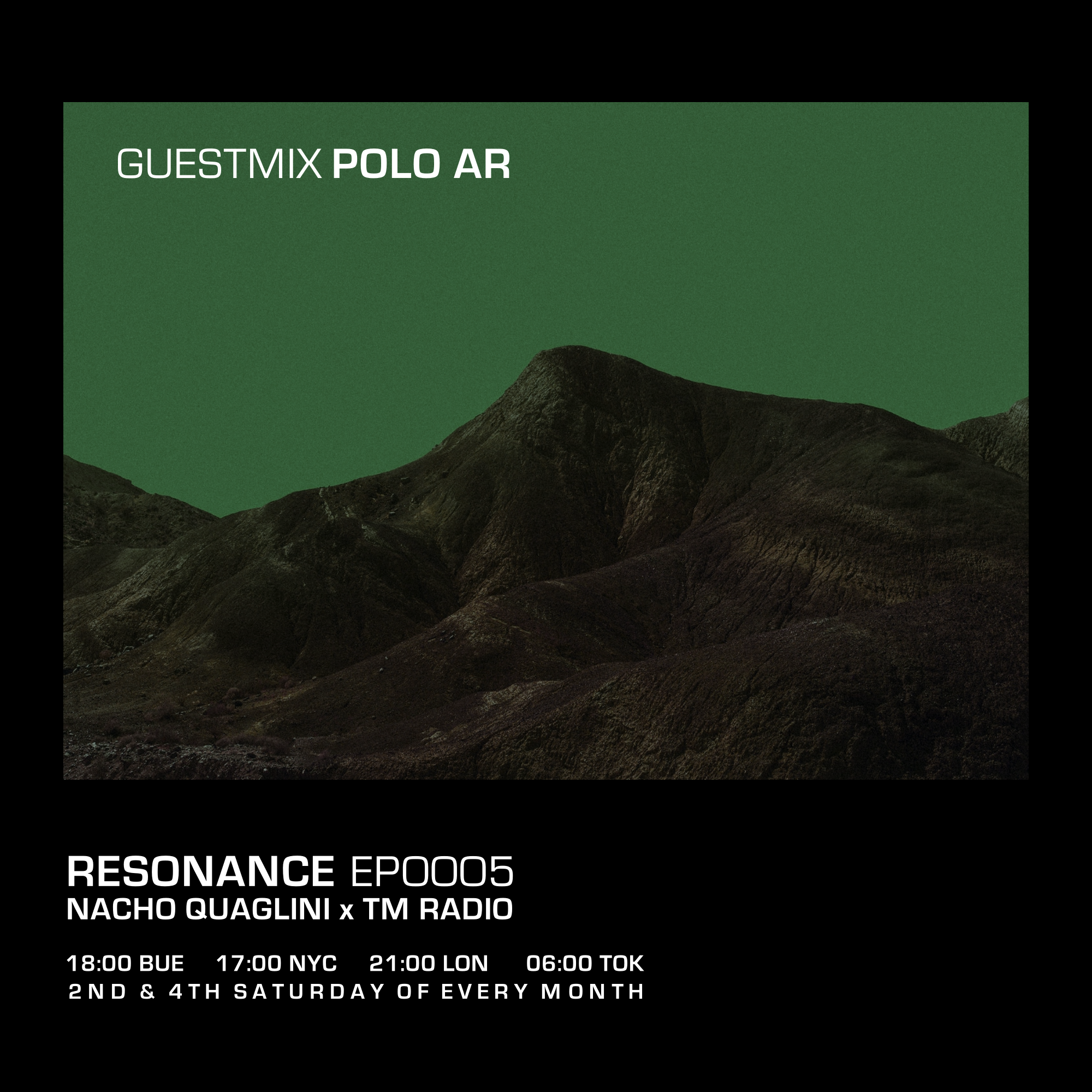 Resonance :: Resonance / Ep. 0005 / October 2020 / Guestmix: Polo AR (aired on October 24th, 2020) banner logo